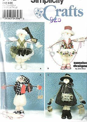 Snowman Pattern Simplicity Crafts 9442 Snow People Winter Decorations