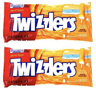 Twizzlers Creamsicle Dreamsicle Popsicle Orange Cream Pop Filled Twists ( 2 PACK