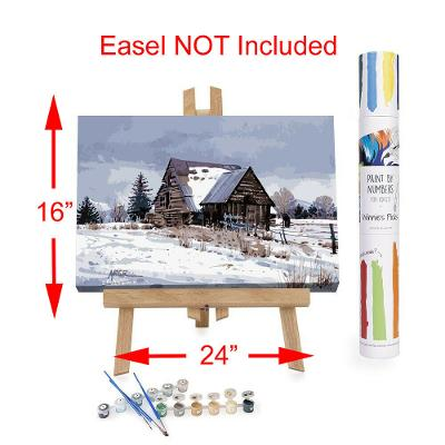"""Adult Paint By Numbers Acrylic Set Cache Valley Barn 16x24"""" Winnies Picks"""