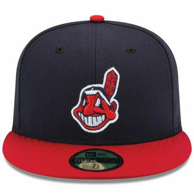 Mens Cleveland Indians New Era Navy/Red Authentic 59FIFTY Fitted Hat Low Profile