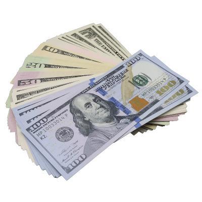 $1 $5 $10 $20 $50 $100 Full Print Movie, Video, Poker, Play Fake Copy Prop Money