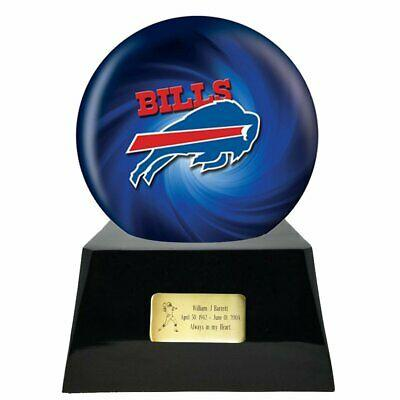 Large/Adult 200 Cubic Inch Buffalo Bills Metal Ball on Cremation Urn Base