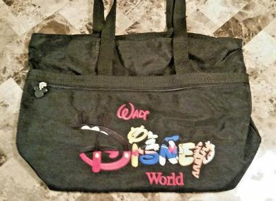 Walt Disney World Large 14in Family Tote Multipocket Bag Mickey Pooh EUC