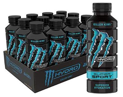 Monster Energy Hydro Super Sport, Killer Kiwi, 20 Oz (Pack Of 12)