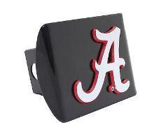 University of Alabama A Crimson Edges on Black Hitch Cover