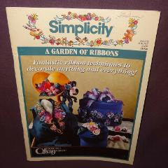 Simplicity A Garden of Ribbons Booklet 1993 Creative Marinda S...