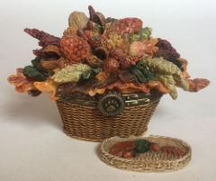 Boyds Bear Autumns Harvest Basket Treasure Box Trinket Limited...