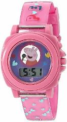 Peppa Pig Girl's Quartz Plastic Watch ColorPink Model PPG6000 ...