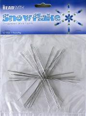 2 Packs SNOWFLAKE Wire FORM 4-1/2