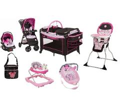 Disney Minnie Garden Delights Complete Baby Gear Bundle with S...