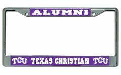 TCU Horned Frogs Alumni Chrome License Plate Frame