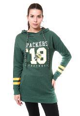 NFL Womens Green Bay Packers Tunic Hoodie Pullover Sweatshirt ...
