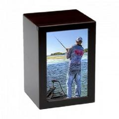 Large/Adult 150 Cubic In. Fisherman Photo Frame MDF Wooden Fun...