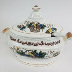 Small Soup tureen With Lid And Spoon Vintage Japan