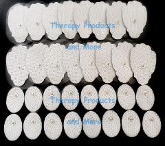 Electrode Pads Combo 16 Large / 16 Small (32) Compatible w/ al...