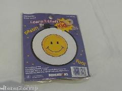 Learn a Craft kids smiley face Easy cross stick kit fabric emb...