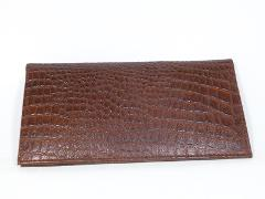 Marshal Crocodile Padded Genuine Leather Checkbook Covers-1 Cr...