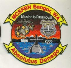 USMC SECURITY FORCES BANGOR, WA (MCSFBN) Patch