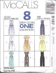 8167 UNCUT McCalls SEWING Pattern Misses Dress Jumpsuit Easy S...