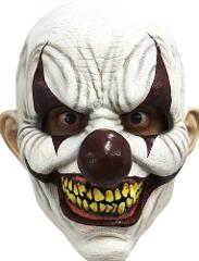 Chomp Clown Mask Full Over Head Latex Scary Creepy Smiling Evi...