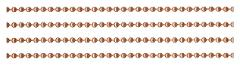 Solid COPPER BALL CHAIN 10 Feet 3.2mm #6 + Plus 5 connectors ~...