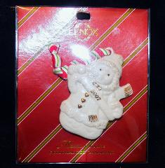 2007 Lenox Merrily Yours Christmas Tree Snowgirl Snowman Sled ...