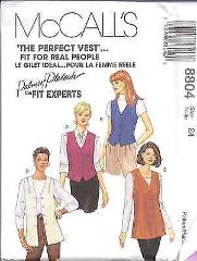 8804 Vintage McCalls SEWING Pattern Misses Vests UNCUT Palmer ...