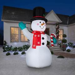 Brand NEW Gemmy 10' Inflatable LED Snowman 114510
