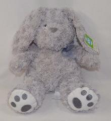 Hug Fun Bunny Rabbit Grey Swirl Fur Plush Stuffed Animal NEW 14