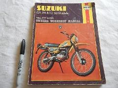 HAYNES SUZUKI OWNER'S MANUAL GT ZR TS 50 MODELS 49CC 1977-1981...