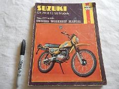 HAYNES SUZUKI OWNER'S MANUAL GT ZR TS 50 MODELS 49CC 1977-1981...