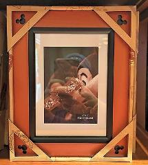 Disney Parks Exclusive Icon Mickey Mouse Beveled Wood Photo Fr...