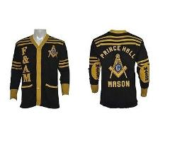 PRINCE HALL F&AM SWEATER FREEMASON MASONIC MASON MASONIC CARD...