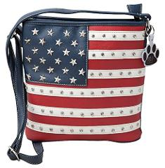 HW Collection Western USA American Flag Stars Stripes Conceale...