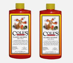 2pk~Cole's FLAMING SQUIRREL Seed Sauce 8 oz. Wild Bird Food Ad...