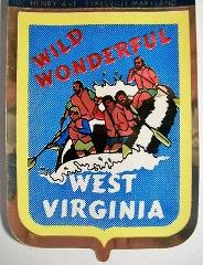 West Virginia State Foil Souvenir Decal