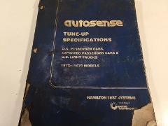 1972 - 1979 Autosense Tune-Up Specifications - Hamilton Test S...