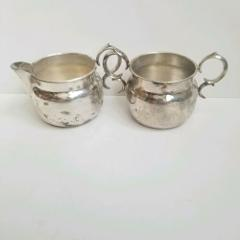 Newport Gorham Silverplate Sugar and Creamer Set