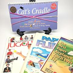 4 Children's Activity Books Juggling Paper Airplanes Cats Crad...