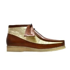 British Walkers Wallabee Boots Style Men's Cognac Gold Leather