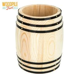 Small Wood Barrel For Pencil Holder & Pencil Or Home Decor