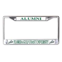 Florida Gulf Coast University Alumni Chrome License Plate Frame