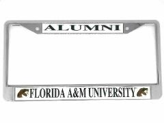 Florida A&M University Alumni Chrome License Plate Frame