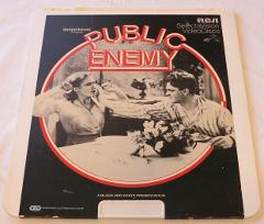 Public Enemy black & white 1982 RCA VideoDiscs CED Video Disc ...