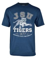 Jackson State University T shirt JSU TIGERS short sleeve Coll...