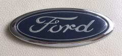 Oval Ford Blue Logo Front Rear Boot Badge for Escort Mondeo Fi...
