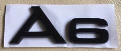 AUDI A6 REAR BOOT BADGE CUSTOM BLACK EDITION for A6 S6 RS6 TDI...