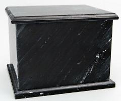 Small/Keepsake 0.2 Cubic Inches Black Natural Marble Companion...