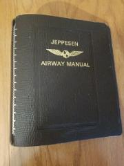 Jeppesen Airway 7 Ring Manual Notebook Top Grain Cowhide Empty...