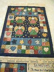 Little Quilts Prim Patchwork Country Angel Fabri-Quilt Fabric ...